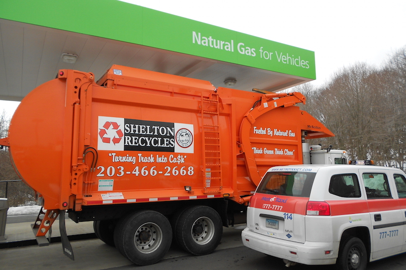 Shelton CNG refuse truck