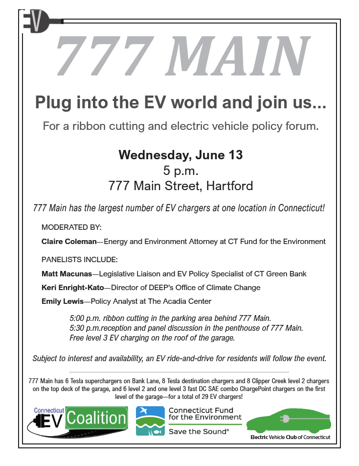 777 Main Ribbon Cutting Ev Policy Forum Greater New Haven Clean Cities Coalition