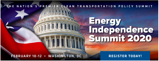 The nation's premier clean transportation policy summitEnergy Independence Summit 2020. February 10-12th, Washington, DC.